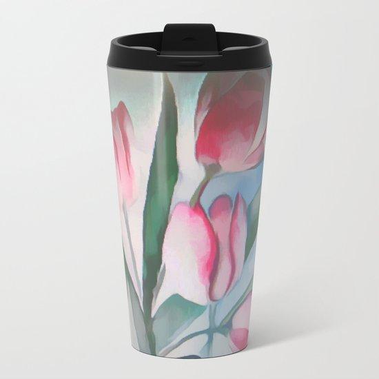 Spring Tulips Metal Travel Mug
