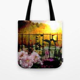 Sunset Balcony Tote Bag
