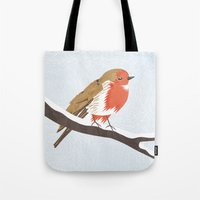 robin Tote Bags featuring Robin. by Madi