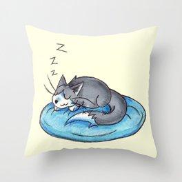 Sunday Snooze Throw Pillow