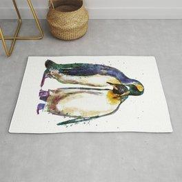 Penguin couple Rug