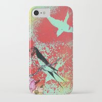 swallow iPhone & iPod Cases featuring Swallow by MinxInk