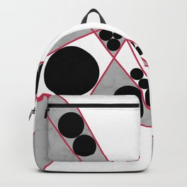 Contemporary Geometric Grey Marble Design Backpack