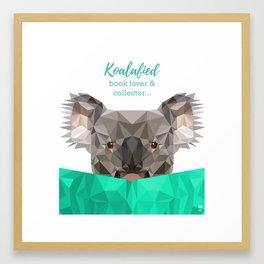 Koalafied book lover Framed Art Print