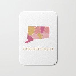 Connecticut map Bath Mat