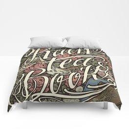 Rain, Tea & Books - Color version Comforters