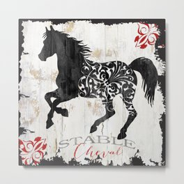 French Farms Horse Metal Print
