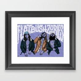 Flatbush ZOMBiES. Framed Art Print