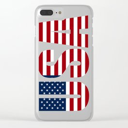 Usa Flag Clear iPhone Case