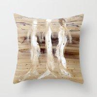 spiritual Throw Pillows featuring Spiritual Encounters by Nut Houch Art