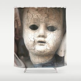 Old Dolls Shower Curtain