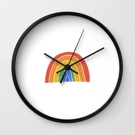 Discreet Pride Rainbow Wall Clock