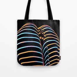 2634s-AK Striped Thighs Bottoms Up Intimate Abstract by Chris Maher Tote Bag