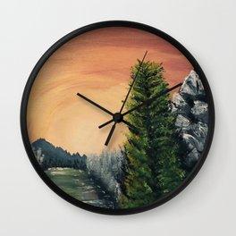 Cliffs Landscape by Noelle's Art Loft Wall Clock
