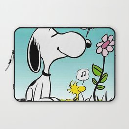 snoopy flower and music Laptop Sleeve