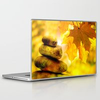 religious Laptop & iPad Skins featuring Fall meditation  by UtArt