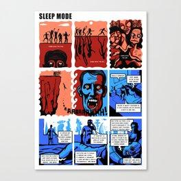 SLEEP MODE Canvas Print