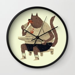 hungry like the wolf Wall Clock