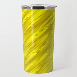 yellow abstract pattern in metal Travel Mug