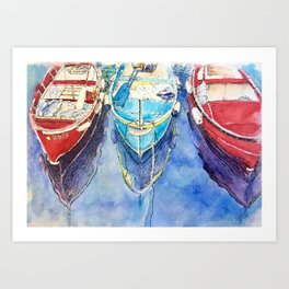 Boats of Italy Art Print