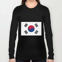 South Korean Flag Long Sleeve T-shirt
