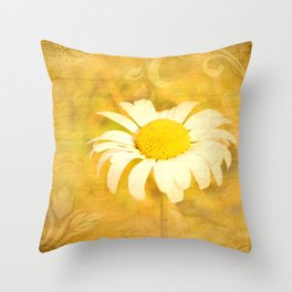 Textured Daisy Throw Pillow
