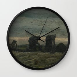 Two Women on the Peat Moor Wall Clock
