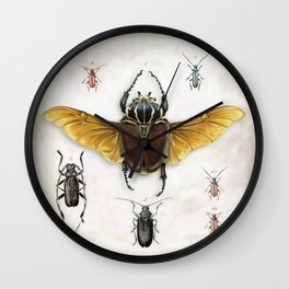 The Vintage Beetles Collection Wall Clock
