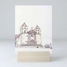 The Old Mission in Santa Barbara Mini Art Print