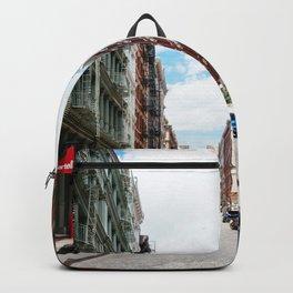 Greene street in Soho, New York Backpack