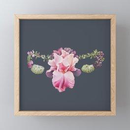 Floral Uterus square format Framed Mini Art Print