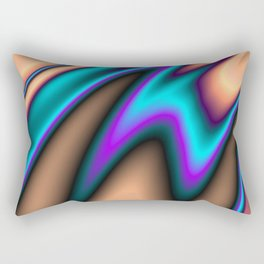 Abstract Fractal Colorways 03 Southwestern Rectangular Pillow