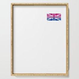 Gay Pride LGBT Bisexual Bi GB UK Union Jack Flag design Serving Tray