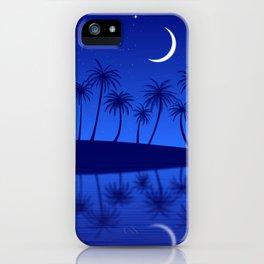 Blue Island Starry Sky iPhone Case