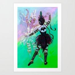 Illustration ; Widowmaker ; Odette & Odile Art Print