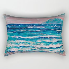 Binary Suns over the Sea and a Rock Rectangular Pillow