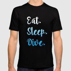 Eat. Sleep. Dive. Mens Fitted Tee Black MEDIUM