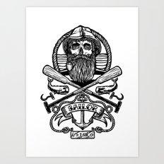 SAILOR SKULL Art Print