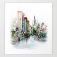street Art Prints featuring street by tatiana-teni