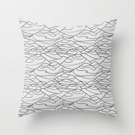 Serpentines Throw Pillow