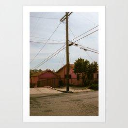 Pink House   Los Angeles Art Print