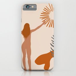 Sun Worshiper Abstract iPhone Case