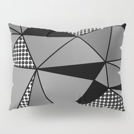 Monochrome Polygons Pillow Sham