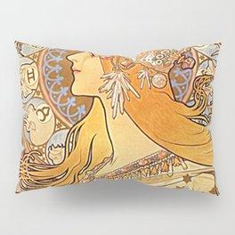 Alphonse Mucha Zodiac La Plume Pillow Sham