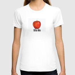 Muérdeme manzana roja T-shirt