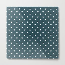 Pattern Formes Etoiles Vert d'eau Metal Print