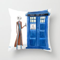 Doctor Wholington, Pumpkin Time Lord King! Throw Pillow