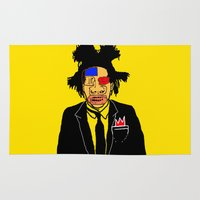 basquiat Area & Throw Rugs featuring Jean Michelle Basquiat by CultureCloth