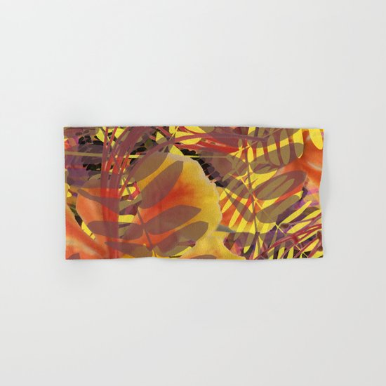 Autumn Tropical Vibe Hand & Bath Towel