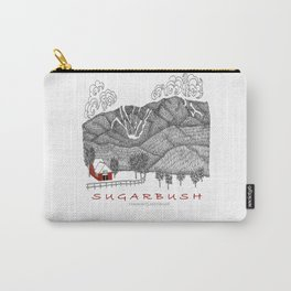Sugarbush Vermont Serious Fun for Skiers- Zentangle Illustration Carry-All Pouch